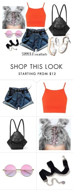 """Remember all their faces"" by thefashionguilty on Polyvore featuring moda, Topshop, MANU Atelier, Paloma Barceló, ZeroUV y Sweet Romance"