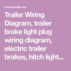 10 best Trailer Wiring Diagram images on Pinterest | Trailer build ...
