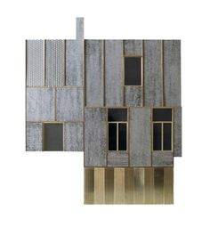 1:25 facade model Card, acetone, etched brass sheet and angle