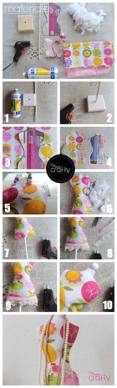 Como hacer un mini maniquí para tus accesorios, Paso a paso http://maracrafty.com/Publicacion/Index/23