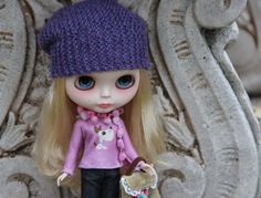 PATTERN  Urban chic slouchie hat for Blythe dolls by blythetoday
