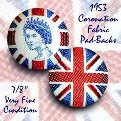 1953 Elizabeth II Coronation Button ~ R C Larner Buttons at eBay  http://stores.ebay.com/RC-LARNER-BUTTONS