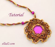 Tutorial Sunset Magic Necklace - Beading Tutorials and Patterns by Ellad2