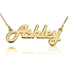 Name Necklace 24k Gold Plated Personalized by GoldenRing2k16
