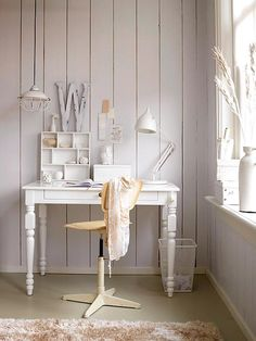 I don't want an all white room, but a cozy corner like this would be fun to make.