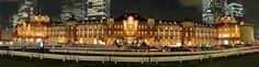 東京駅舎ライトアップ1 パノラマ写真自動スクロール