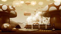 Chocolate World by Jenya Kobuziatski, via Behance