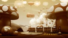 Chocolate World by Jenya Kobuziatski, via Behance