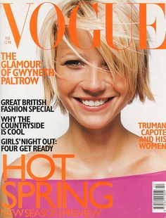 Gwyneth Paltrow. Photo by Mario Testino. Hair: Orlando Pita. Make-up Tom Pecheux. Fashion editor: Lucinda Chambers. February 1998