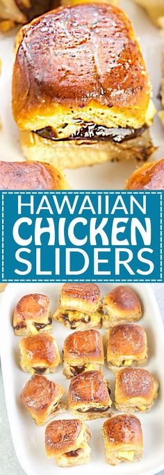 Hawaiian Chicken Sliders are the perfect easy appetizers for feeding a crowd. Hawaiian Chicken Sliders are the perfect easy appetizers for feeding a crowd. Game Day Appetizers, Appetizers For A Crowd, Appetizers For Party, Appetizer Recipes, Party Snacks, Christmas Appetizers, Appetizer Sandwiches, Party Sweets, Finger Sandwiches