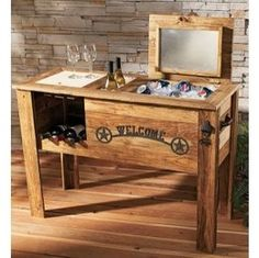 Thermal Engineering Corporation Rustic Cooler with Wine Rack