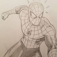 Pin by keiko rain on ✨ marvel ✨ in 2019 карандашные рисунки, Spiderman Sketches, Superhero Sketches, Avengers Drawings, Spiderman Drawing, Drawing Superheroes, Avengers Art, Spiderman Art, Marvel Art, Ms Marvel