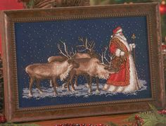 Santa and the reindeer 1/4