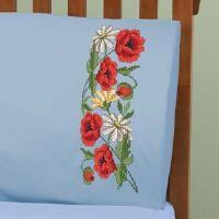 Herrschners® Summer Pillowcase Pair Stamped Cross-Stitch
