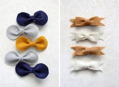simple, no sew, hair bow (2 styles) tutorial.  seriously seriously simple and cute.