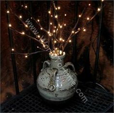Battery Operated Willow LED Lighted Branches Small 19in. 60 Lights Willow Branch Lights