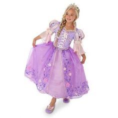 Disney Store Limited Edition Deluxe Tangled Rapunzel Costume for Girls Size 5