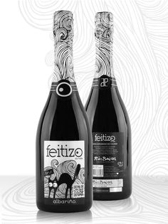 Packaging of the World: Creative Package Design Archive and Gallery: Feitizo da Noite | Albariño Sparkling Wine