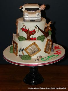 70th Birthday Cake by Kimberly Dawn Cakes, via Flickr