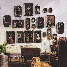 """Galerie de Portraits"". A Collection designed by Rachel Convers - more at www.ibride.fr #ibride #ibridedesign #rachelconvers #trays #homedecor #interiordesign #furniture #furnituredesign #art #animal #graphicdesign #design"