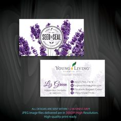 Young Living Business Cards, Personalized Young Living Cards, YL22– ToboArt