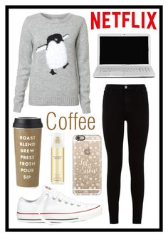 """""""#306 chilling & netflix"""" by xjet1998x ❤ liked on Polyvore featuring moda, 7 For All Mankind, Converse, Toshiba, Kate Spade, Casetify, Victoria's Secret, women's clothing, women's fashion i women"""
