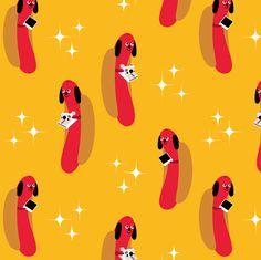Hot Dog Photographer fabric by heidikenney on Spoonflower - custom fabric