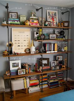 Love this shelving idea.