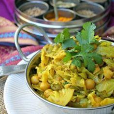 Punjabi Style Cabbage   Chickpeas HealthyAperture.com
