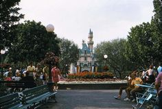 sleeping beauty castle disneyland 1960's