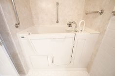 Oversized Tub - Handicap Accessible - Wlak-in Bathtub - Grab Bars - Universal Design - Aging in Place Design - Durabath Surround - Bathroom Remodel -