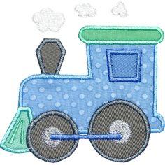 Train Engine Applique Design