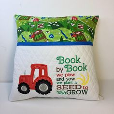 Pillow Fight Friends - - - Vintage Pillow French - Pillow Set On King Bed - Book Pillow, Reading Pillow, Bolster Pillow, Pillow Set, Pillow Embroidery, Machine Embroidery Applique, Applique Quilts, Mug Rug Patterns, Gifts For Readers
