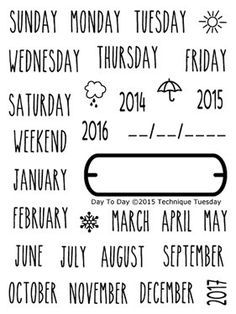 Day to Day Technique Tuesday Clear Planner by ReddRobinStudios