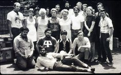 Group photo of artists and master printers with June Wayne at the Tamarind Lithography Workshop in Hollywood, CA. 1968.