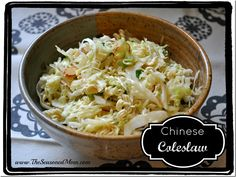 Chinese Coleslaw - one of our very favorite sides!  www.TheSeasonedMom.com
