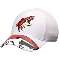 e6b5e863b Men s Reebok White Arizona Coyotes Face Off Draft Flex Hat
