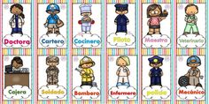 Diseños para enseñar y aprender los oficios y profesiones Gifts For Teen Boys, Gifts For Teens, Communities Unit, Community Helpers Preschool, File Folder Games, Word Free, When I Grow Up, Aesthetic Stickers, Games For Kids