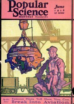 Popular Science - June 1928  Cover By Herbert Paus