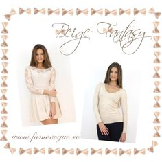 Build up a fabulous outfit with this lace and beige love the romantic Dresser, Outfit Ideas, Beige, Fantasy, Trends, Lace, Casual, Polyvore, Stuff To Buy