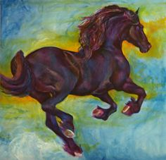 Black is Beautiful! Friesian Gallery - Horse Paintings by Karen Brenner