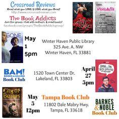 @TampaBookClub #BAMBookClub @WHLYABookClub @crossroadreview #TheBookAddcits with @AlterKates @michaelgrantbks @cassieclare @beckyalbertalli