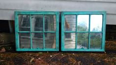 Windows saved from the garbage turned into mercury glass mirrors
