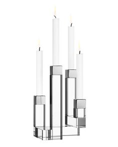 Chimney+Four-Arm+Candleholder+by+Orrefors+Kostaboda+at+Neiman+Marcus.