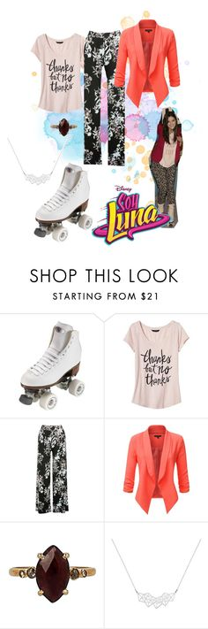 """soy luna"" by maria-look on Polyvore featuring Riedell, Banana Republic, M&Co, Chan Luu and A Weathered Penny"