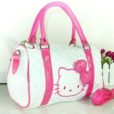 <3 hello kitty white and pink purse