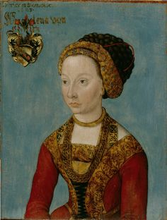 early 16th century (1500-1506) Germany Portrait of a bride by Lucas Cranach the Elder  Nuremberg, Germanisches Nationalmuseum  http://www.lucascranach.org/digitalarchive.php?width=1349height=573page=0obj=DE_GNMN_Gm614_FR-noneuid=4743fol=01_Overallimg=DE_GNMN_Gm614_FR-none_2008-01_Overall.tif