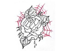 Rose In Spider Net Tattoo Design | Fans Share