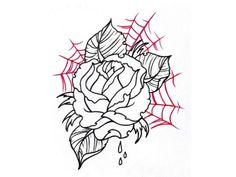 Rose In Spider Net Tattoo Design   Fans Share