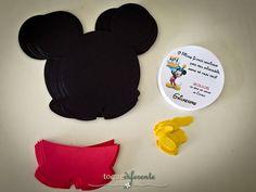 Aniversário Mickey - Parte I Convite Mickey usando a Silhouette Cameo - Fonte Disney gratuita (Mickey invitation - Silhouette Cameo - Disney Free Font)